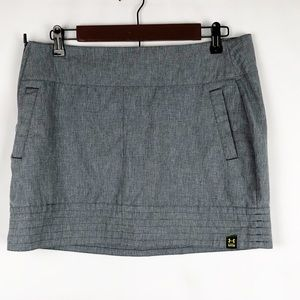 UNDER ARMOUR Gray Mini Skirt EUC - Size 10